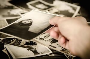 Foto, bild, hand, finger, erinnerungen, retro