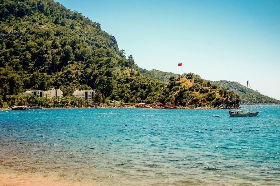 Playa, mar, agua, vacaciones, océano, viaje, costa, isla, verano