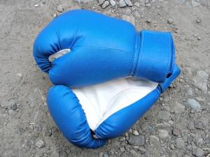 luvas de boxe, pulso de pedra, terra,, esporte