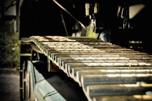 Oruga, máquina, metal, mecanismo, vehículo, rodillo
