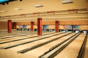 floor, bowling, wood, lighting, architecture, building