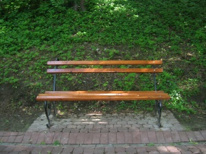 bench, seat, furniture, park, grass, tree, park, wood