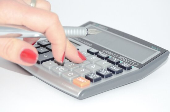 pencil, hand, woman, calculator, economy, business, finance