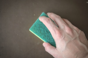 hand, sponge, cleaning, hygiene