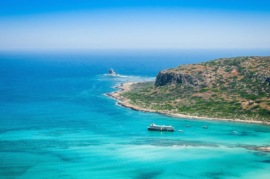 beach, sea, cruiser, water, coast, turquoise, ocean, summer, sky
