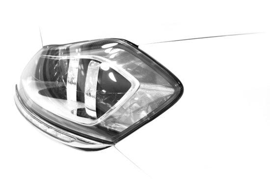 headlight, automobile, vehicle, mirror, glass
