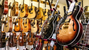 guitar, shop, music, instrument, wire, acoustics
