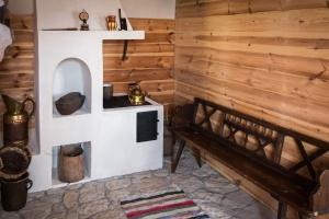 bænk, væg, pejs, ethno village, træ, væg, gulv, fliser, sten
