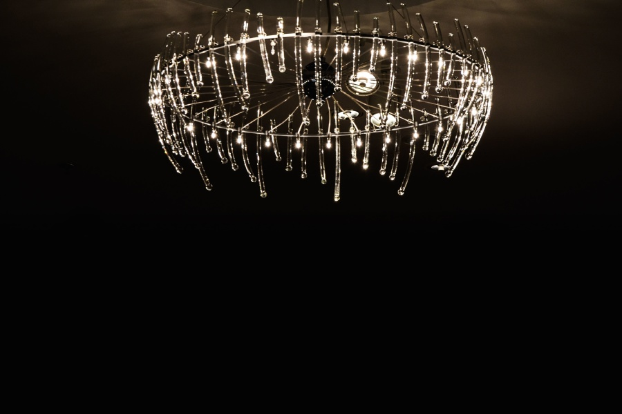 chandelier, glass, light bulb, metal, ceiling, light