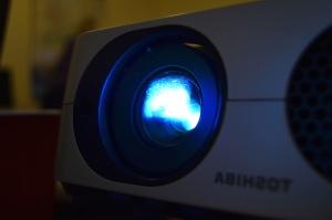 proyektor, perangkat, komputer, teknologi, hitam, lampu, cahaya