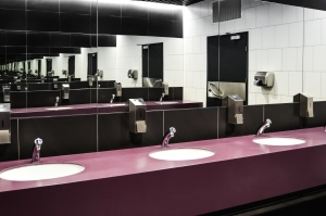 toilet, washbasin, faucet, mirror, hygiene, room, interior