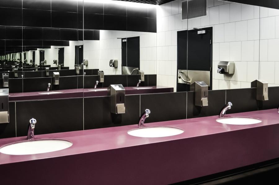 ห้องน้ำ ล้างหน้า ก๊อกน้ำ กระจก สุขอนามัย ห้อง ตกแต่งภายใน
