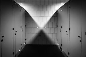 interijer, soba, kat, zid, WC