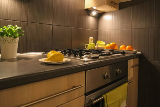 stove, kitchen, home, interior, room, house, modern, luxury, table
