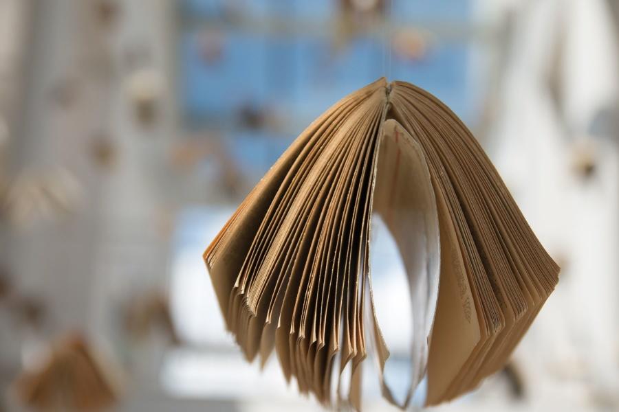 book, decoration, shop, bookshop, paper, page, rope