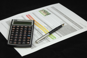 business, contract, calculator, pencil, paper, finance, economy