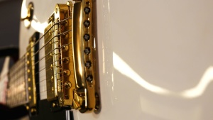 гітара латунь інструмент, дріт, електрику, технології, мистецтво