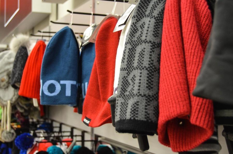 roupas, loja, inverno, chapéu, pintura, desenho, decoração
