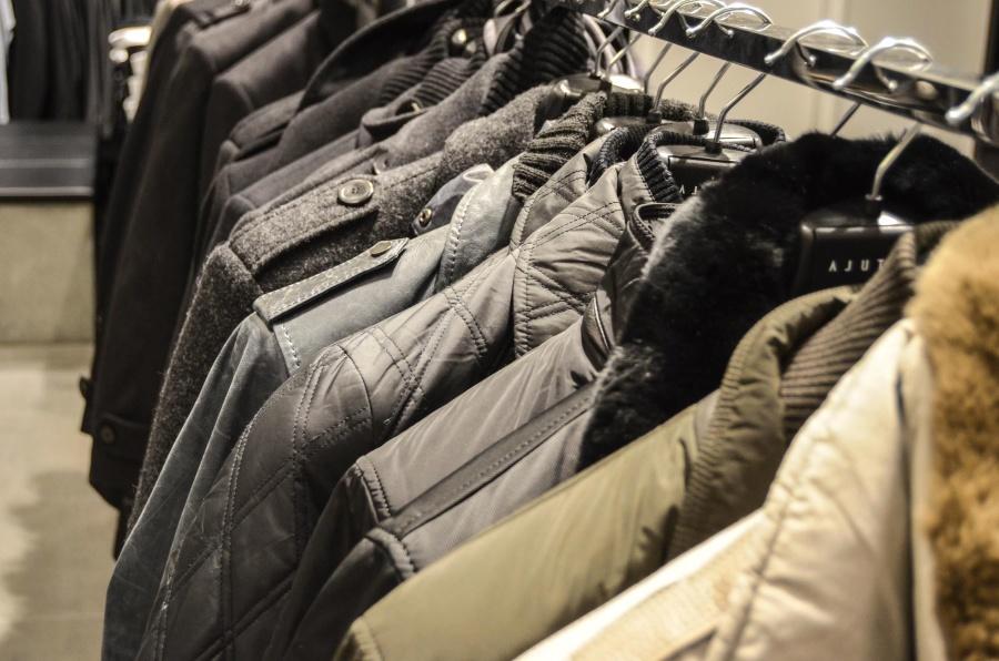 jacket, dressing room, shop, winter coat