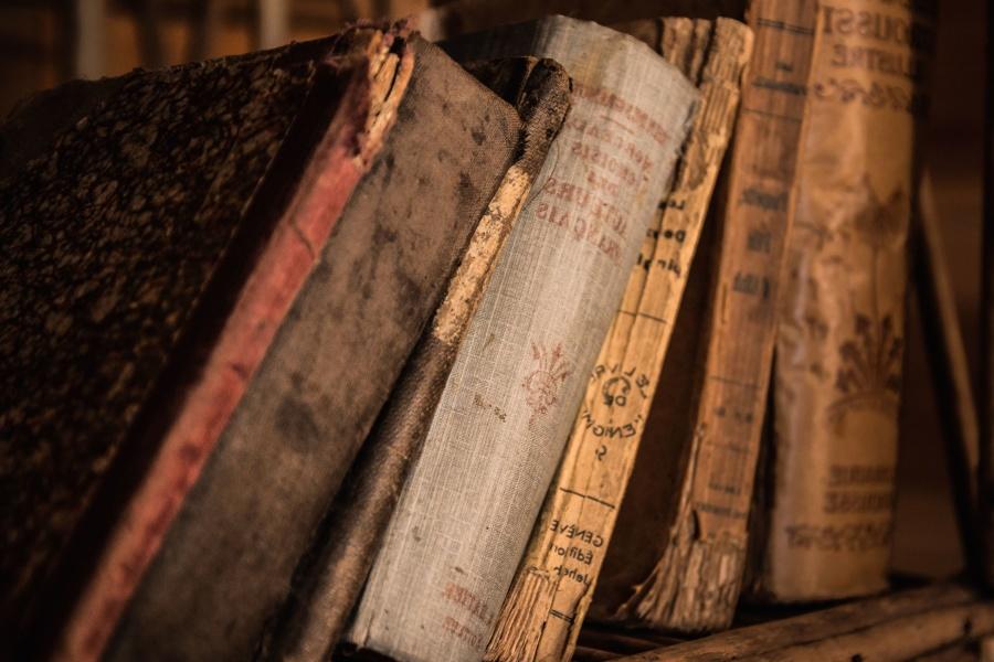 book, bookshelf, old, knowledge