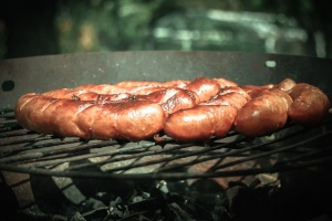 sausage, oven, meat, food, meal, grill, dinner, delicious