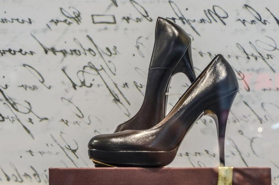 obuwie, buty, skóry, stóp, moda, para, czarny, obiekt