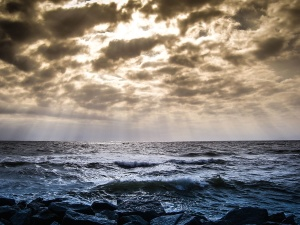 ocean, sea, water, beach, sky, coast, landscape, wave, coastline, Sun