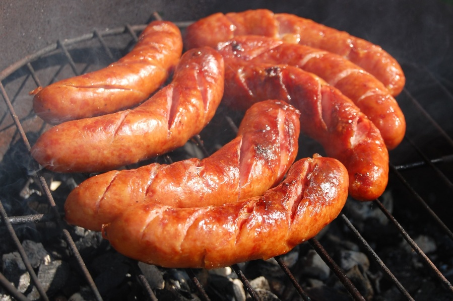 Salsiccia, carne, cibo, barbecue, cibo