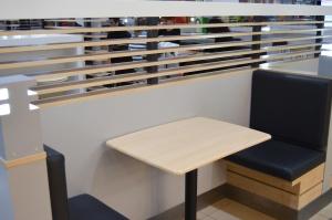 Mesa, muebles, interior, habitación, restaurante, moderno, silla