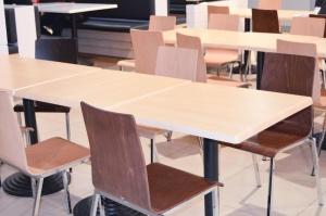Table, meuble, pièce, intérieur, moderne, chaise, bureau, restaurant, décor
