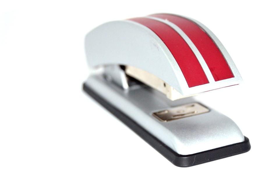 stapler, metal, device, office, paper, metal