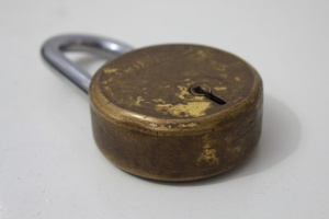 old, padlock, rust, steel, iron, object