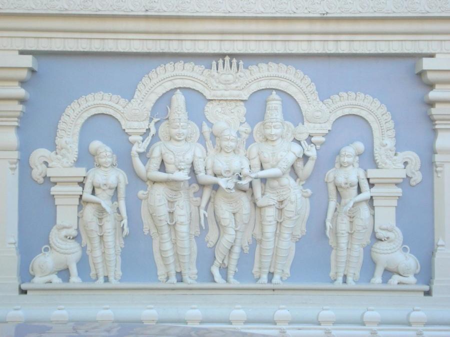 Art, sculpture, dieu hindou, temple, architecture, ancien, religion