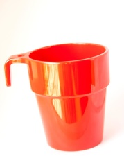 red, mug, cup, beverage, drink, container, mug
