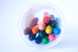kleur, krijt, fles, kleurrijk, kleuren, geel, sluiten