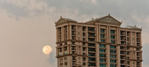 moon, daytime, architecture, building, city, exterior
