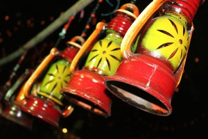 Lámpara, colorido, linterna, objeto