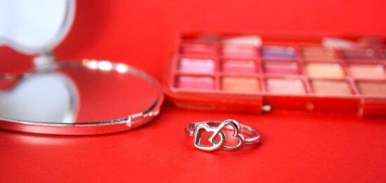 makeup, decoration, powder, mirror, jewelry