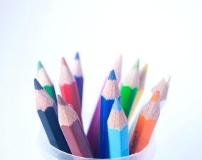 鉛筆、色、子供たち、クレヨン、鉛筆、教育