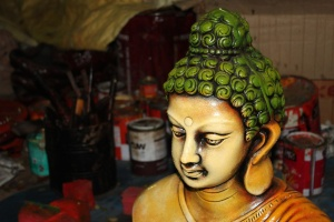 Buddhism, religion, statue, sculpture, colorful, object