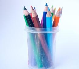色、プラスチック、鉛筆、クレヨン、オブジェクト、カラフルです