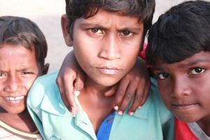 street, children, India, face, portrait