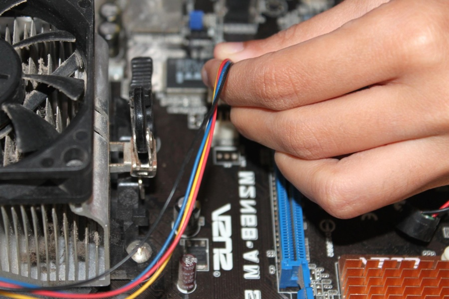 Computadora, motherboard, tecnología, conexión, red, equipo, hardware