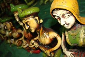 colorful, paint, India, sculpture, art, statue