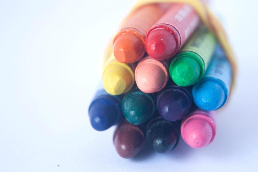크레용, 색깔, 연필, 다채로운, 개체