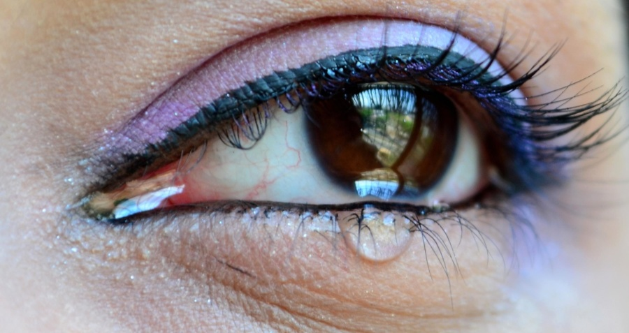 δάκρυ, μάτι, θλίψη, βλεφαρίδες, φρύδια, καλλιτέχνης μακιγιάζ