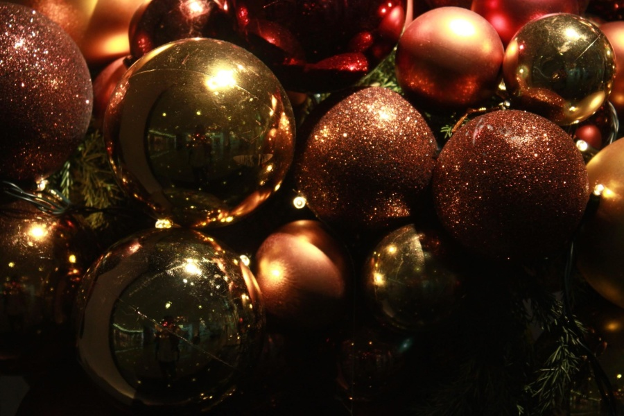 christmas, reflection, decoration, dark, ornament