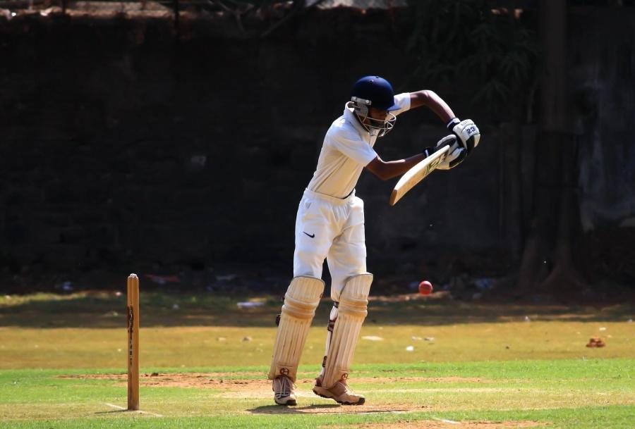 Sport, sport de cricket, défense, recréation