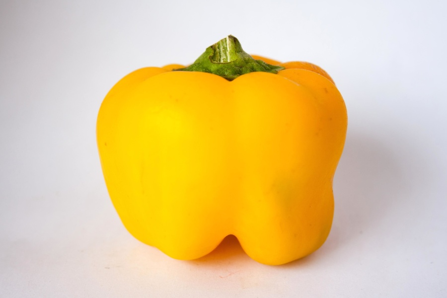 gul, paprika, mat, friske, plante, grønnsaker, vegetarianere