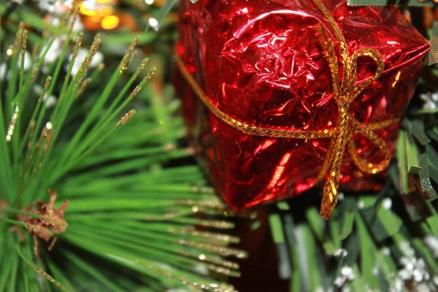 Regalo, presente, Natale, decorazione
